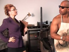 marvelous mother janet mason used by fat dark cock