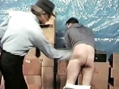 a thief gets spanked by dad officer