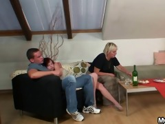 horny granny lures her son-in-law