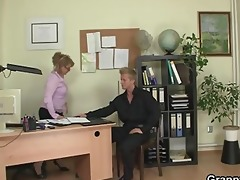 he bangs concupiscent office lady