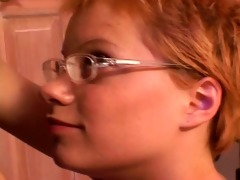shorthaired redhead legal age teenager babysitter