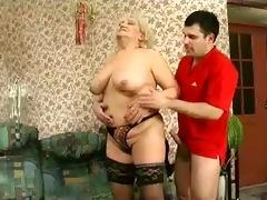 blonde grannie - castigation turns into sex