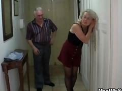 she is tricked into 3some by his old parents