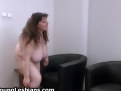 concupiscent mature lady with huge tits acquires