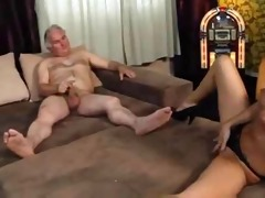ugly old guy fucks a hot tiny brunette