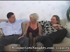 aged mommy seduces young guy with hubby