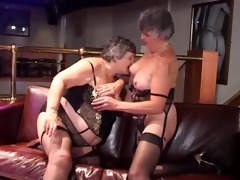 two overweight grannies group-fucked by youthful