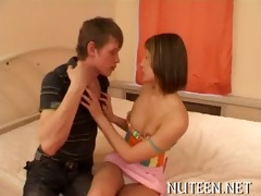 babe bounces on fat schlong