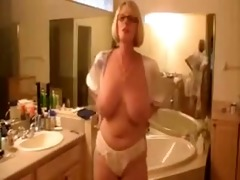 older non-professional german wife showing in