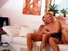 blonde mature and young guy