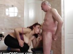 lewd granddad loves having sex with cute part4