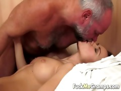 grand-dad has an appetite for youthful pussy