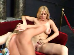 youthful golden-haired babe fucking old dude