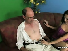 older man copulates his younger trophywife