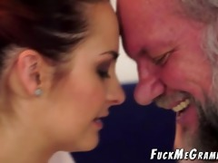 old hairy perv copulates younger gf