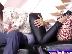 youthful playgirl engulfing old mans cock