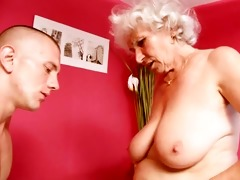 cougar granny copulates youthful dick