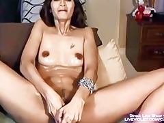 horny milf deb masturbates her sweet holes