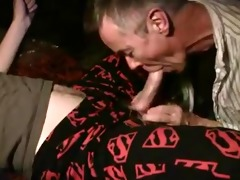 older chap sucks off cock