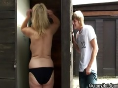 he is finds and bangs blond granny in the