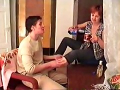 drunk mature mommy screwed on the carpet by