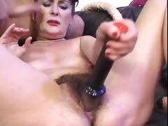 cute hairy mature hardly drilled and toyed
