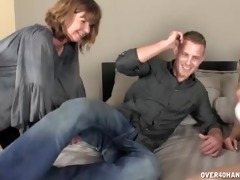 sexy mom sucks a pecker in front of her daughter