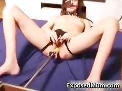 kinky mom cookie drilled by a sex tool part3