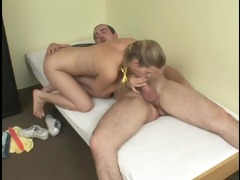 golden-haired masturbating then drilled - julia