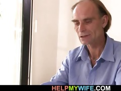 old hubby allows him bone his juvenile wife