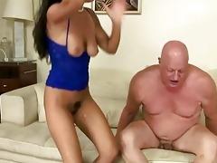 nasty brunette fucking fat granddad