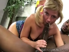 milf finds her daughter engulfing a giant dark