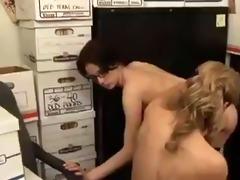 mature secretary seduces young girl...f70
