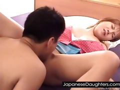 cute japanese daughter fucked into ass hard