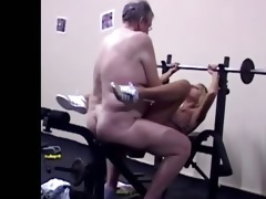 young blonde fucked from behind by old chap