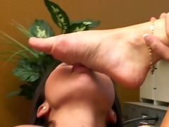 asian worships older womans feet