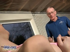 big dicked grand-dad fucks a skinny young girl